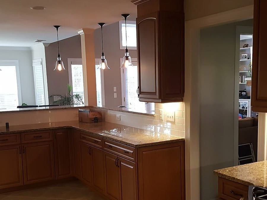Brown Cabinets Before Charlotte Cabinet Painting